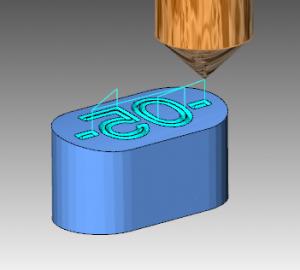 3D engrave feature
