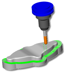 CAD CAM Surface Based Parallel To Surface